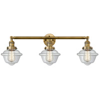 Innovations Lighting 205-BB-S-G532 Small Oxford 3 Light 34 inch Brushed Brass Bathroom Fixture Wall Light Adjustable