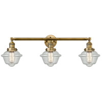 Innovations Lighting 205-BB-S-G534 Small Oxford 3 Light 34 inch Brushed Brass Bathroom Fixture Wall Light Adjustable