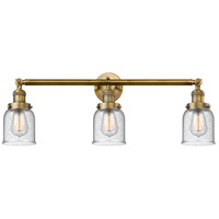 Innovations Lighting 205-BB-S-G54 Small Bell 3 Light 30 inch Brushed Brass Bathroom Fixture Wall Light Adjustable