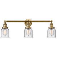 Innovations Lighting 205-BB-S-G54-LED Small Bell LED 30 inch Brushed Brass Bath Vanity Light Wall Light, Franklin Restoration