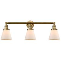 Innovations Lighting 205-BB-S-G61-LED Small Cone LED 30 inch Brushed Brass Bath Vanity Light Wall Light, Franklin Restoration
