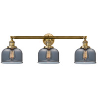 Innovations Lighting 205-BB-S-G73 Large Bell 3 Light 32 inch Brushed Brass Bathroom Fixture Wall Light Adjustable