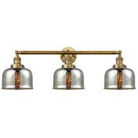 Innovations Lighting 205-BB-S-G78 Large Bell 3 Light 32 inch Brushed Brass Bath Vanity Light Wall Light Franklin Restoration