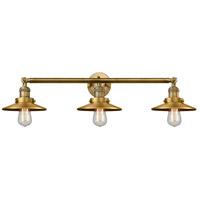 Innovations Lighting 205-BB-S-M4-LED Railroad LED 32 inch Brushed Brass Bath Vanity Light Wall Light, Franklin Restoration