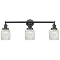 Innovations Lighting 205-BK-G302-LED Colton LED 32 inch Matte Black Bath Vanity Light Wall Light, Franklin Restoration