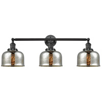 Innovations Lighting 205-BK-G78-LED Large Bell LED 32 inch Matte Black Bath Vanity Light Wall Light Franklin Restoration