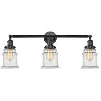 Innovations Lighting 205-BK-S-G184-LED Canton LED 30 inch Matte Black Bath Vanity Light Wall Light, Franklin Restoration