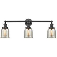 Innovations Lighting 205-BK-S-G58-LED Small Bell LED 30 inch Matte Black Bath Vanity Light Wall Light Franklin Restoration