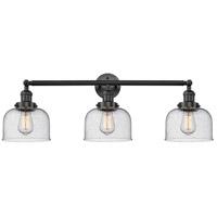 Innovations Lighting 205-BK-S-G74-LED Large Bell LED 32 inch Matte Black Bath Vanity Light Wall Light Franklin Restoration