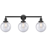 Innovations Lighting 205-OB-S-G204-8 Beacon 3 Light 32 inch Oil Rubbed Bronze Bathroom Fixture Wall Light Adjustable