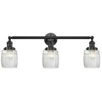 Innovations Lighting 205-OB-S-G302-LED Colton LED 32 inch Oil Rubbed Bronze Bath Vanity Light Wall Light, Franklin Restoration
