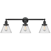 Innovations Lighting 205-OB-S-G44 Large Cone 3 Light 32 inch Oil Rubbed Bronze Bathroom Fixture Wall Light Adjustable