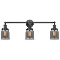 Innovations Lighting 205-OB-S-G53 Small Bell 3 Light 30 inch Oil Rubbed Bronze Bathroom Fixture Wall Light Adjustable