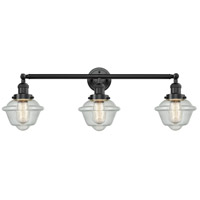 Innovations Lighting 205-OB-S-G534 Small Oxford 3 Light 34 inch Oil Rubbed Bronze Bathroom Fixture Wall Light Adjustable