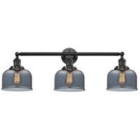 Innovations Lighting 205-OB-S-G73 Large Bell 3 Light 32 inch Oil Rubbed Bronze Bathroom Fixture Wall Light Adjustable