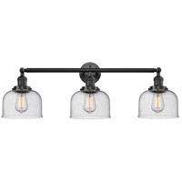 Innovations Lighting 205-OB-S-G74 Large Bell 3 Light 32 inch Oil Rubbed Bronze Bathroom Fixture Wall Light Adjustable