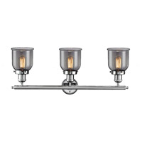 Innovations Lighting 205-PC-G53 Small Bell 3 Light 30 inch Polished Chrome Bath Vanity Light Wall Light, Franklin Restoration alternative photo thumbnail