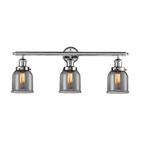Innovations Lighting 205-PC-G53 Small Bell 3 Light 30 inch Polished Chrome Bath Vanity Light Wall Light, Franklin Restoration photo thumbnail