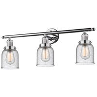 Innovations Lighting 205-PC-G54 Small Bell 3 Light 30 inch Polished Chrome Bath Vanity Light Wall Light, Franklin Restoration photo thumbnail