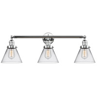 Innovations Lighting 205-PC-S-G42 Large Cone 3 Light 32 inch Polished Chrome Bathroom Fixture Wall Light Adjustable