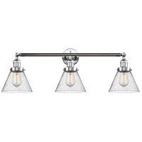 Innovations Lighting 205-PC-S-G44 Large Cone 3 Light 32 inch Polished Chrome Bathroom Fixture Wall Light Adjustable
