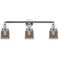 Innovations Lighting 205-PC-S-G53 Small Bell 3 Light 30 inch Polished Chrome Bathroom Fixture Wall Light Adjustable