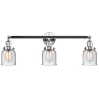 Innovations Lighting 205-PC-S-G54-LED Small Bell LED 30 inch Polished Chrome Bath Vanity Light Wall Light, Franklin Restoration photo thumbnail