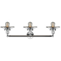 Innovations Lighting 205-PC-S-M7 Railroad 3 Light 32 inch Polished Chrome Bath Vanity Light Wall Light Franklin Restoration