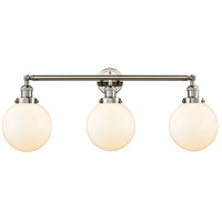 Polished Nickel Large Beacon Wall Sconces