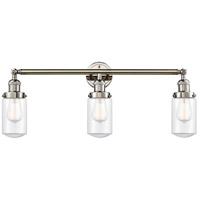 Innovations Lighting 205-PN-G312-LED Dover LED 31 inch Polished Nickel Bath Vanity Light Wall Light Franklin Restoration