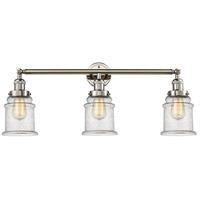 Innovations Lighting 205-PN-S-G184 Canton 3 Light 30 inch Polished Nickel Bathroom Fixture Wall Light Adjustable