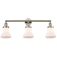 Innovations Lighting 205-PN-S-G191 Bellmont 3 Light 30 inch Polished Nickel Bath Vanity Light Wall Light Franklin Restoration