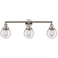 Innovations Lighting 205-PN-S-G204-6 Beacon 3 Light 30 inch Polished Nickel Bathroom Fixture Wall Light Adjustable