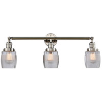 Innovations Lighting 205-PN-S-G302 Colton 3 Light 32 inch Polished Nickel Bathroom Fixture Wall Light Adjustable