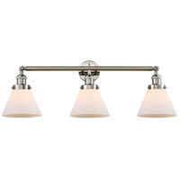 Innovations Lighting 205-PN-S-G41 Large Cone 3 Light 32 inch Polished Nickel Bathroom Fixture Wall Light Adjustable