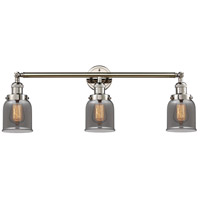Innovations Lighting 205-PN-S-G53 Small Bell 3 Light 30 inch Polished Nickel Bathroom Fixture Wall Light Adjustable