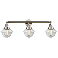Innovations Lighting 205-PN-S-G532 Small Oxford 3 Light 34 inch Polished Nickel Bathroom Fixture Wall Light Adjustable