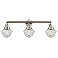 Innovations Lighting 205-PN-S-G534 Small Oxford 3 Light 34 inch Polished Nickel Bathroom Fixture Wall Light Adjustable