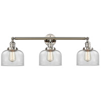 Innovations Lighting 205-PN-S-G72 Large Bell 3 Light 32 inch Polished Nickel Bathroom Fixture Wall Light Adjustable