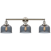 Innovations Lighting 205-PN-S-G73 Large Bell 3 Light 32 inch Polished Nickel Bathroom Fixture Wall Light Adjustable