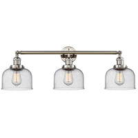Innovations Lighting 205-PN-S-G74 Large Bell 3 Light 32 inch Polished Nickel Bathroom Fixture Wall Light Adjustable