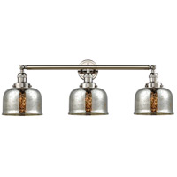 Innovations Lighting 205-PN-S-G78 Large Bell 3 Light 32 inch Polished Nickel Bathroom Fixture Wall Light Adjustable