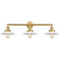 Innovations Lighting 205-SG-G1 Halophane 3 Light 33 inch Satin Gold Bath Vanity Light Wall Light
