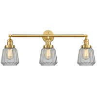 Innovations Lighting 205-SG-G142 Chatham 3 Light 30 inch Satin Gold Bath Vanity Light Wall Light