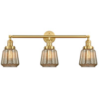 Innovations Lighting 205-SG-G146 Chatham 3 Light 30 inch Satin Gold Bath Vanity Light Wall Light