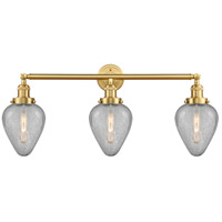 Innovations Lighting 205-SG-G165 Geneseo 3 Light 32 inch Satin Gold Bath Vanity Light Wall Light