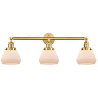 Innovations Lighting 205-SG-G171 Fulton 3 Light 30 inch Satin Gold Bath Vanity Light Wall Light