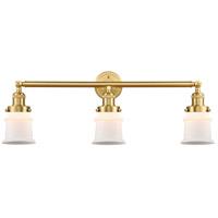 Innovations Lighting 205-SG-G181S Small Canton 3 Light 30 inch Satin Gold Bath Vanity Light Wall Light Franklin Restoration