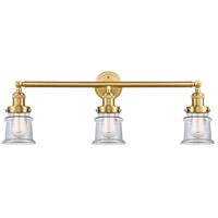 Innovations Lighting 205-SG-G182S-LED Small Canton LED 30 inch Satin Gold Bath Vanity Light Wall Light
