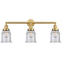 Innovations Lighting 205-SG-G184 Canton 3 Light 30 inch Satin Gold Bath Vanity Light Wall Light Franklin Restoration